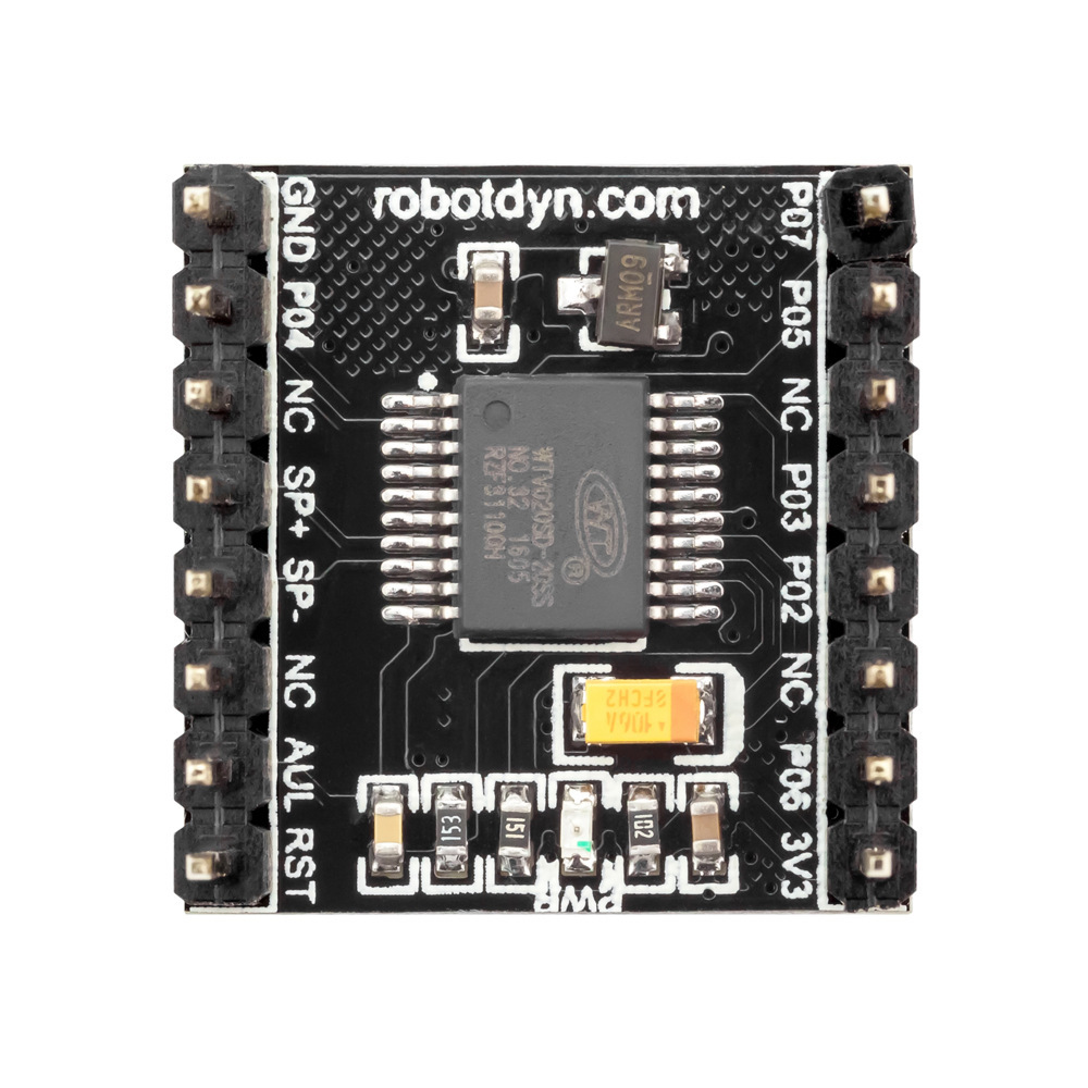 RobotDyn® WTV020 Audio Module MP3 Player With MicroSD Card Reader Compatible For Arduino AVR ARM PIC-MP3