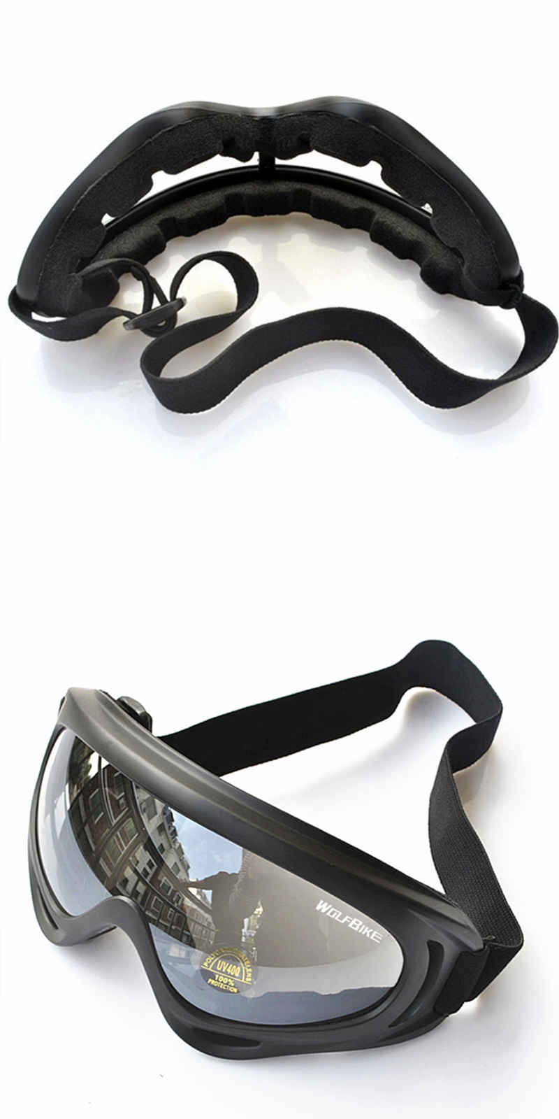 WOLFBIKE Riding Glasses Ski Goggles Motorcycle Windproof Glasses