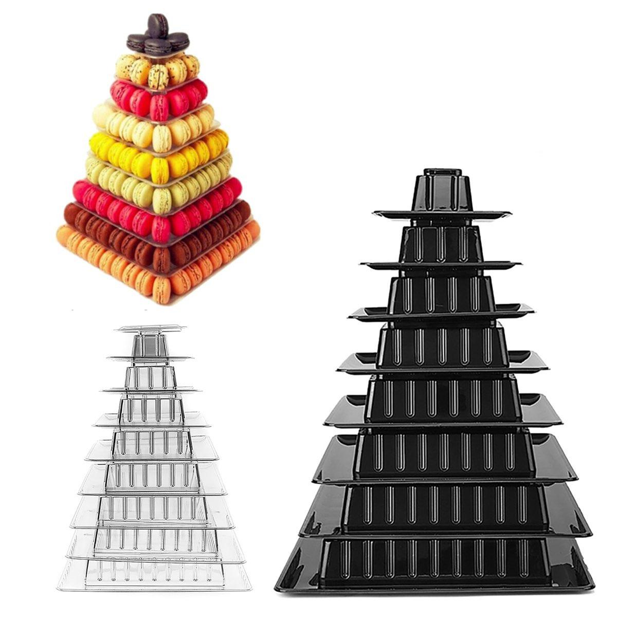 9 Tiers Macaron Tower Cake Stand Cupcake Holder День рождения Свадебное Декорации для вечеринок