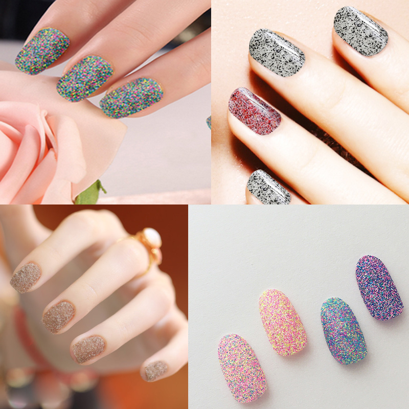 10ml 4 Colors Nail Glitter Powder Nail Art Decorations Set