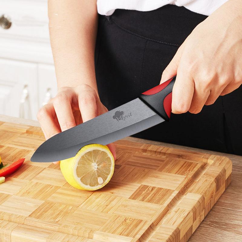 MYVIT Cerâmico Faca Facas de Cozinha 3 4 5 6 polegada + Descascador Lâmina Negra Paring Fruit Vegetable Chef Faca Utilitário de Cozinha Conjunto de Ferramentas