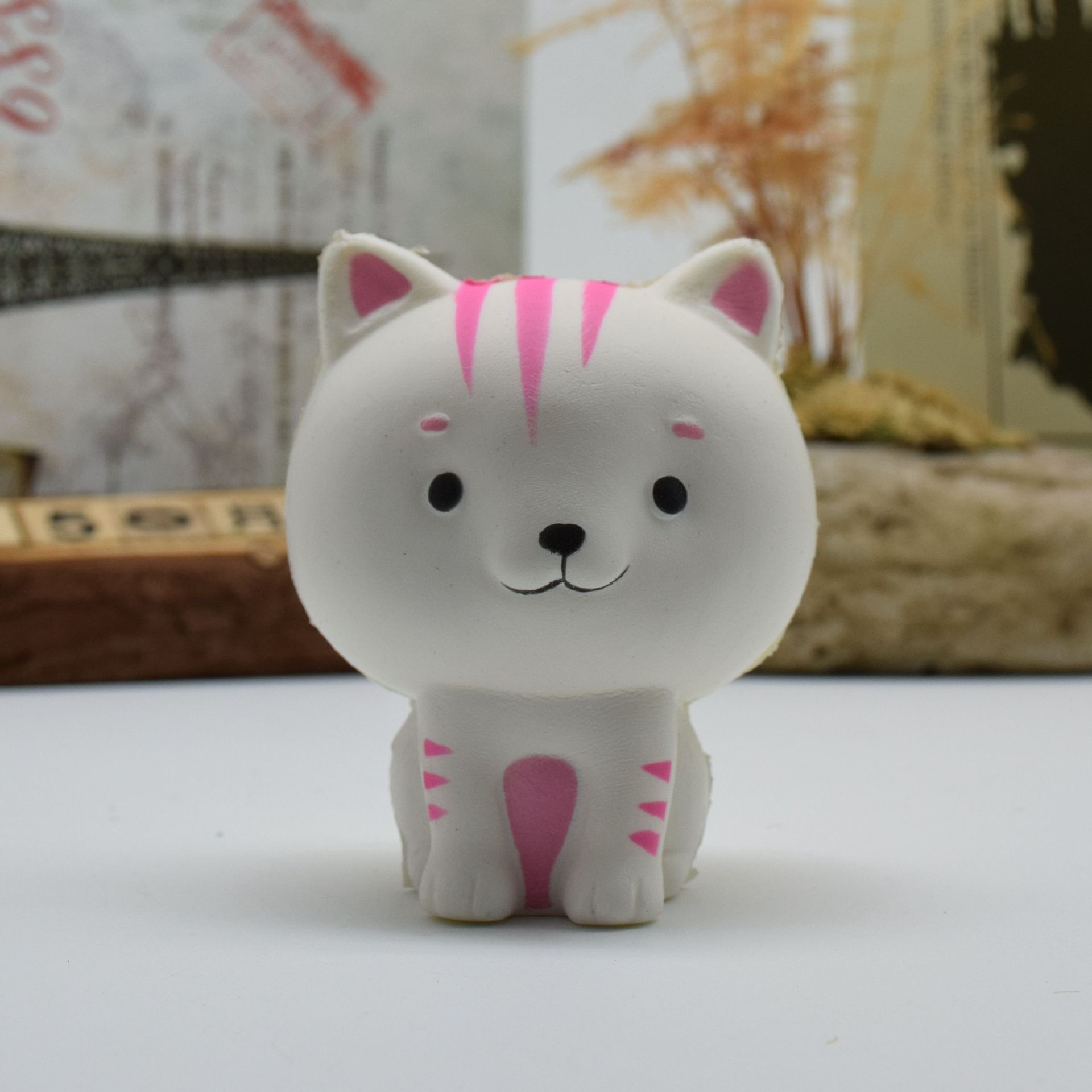 PU Simulation Cartoon Cat Toy Squishy Relief Toys Random Color