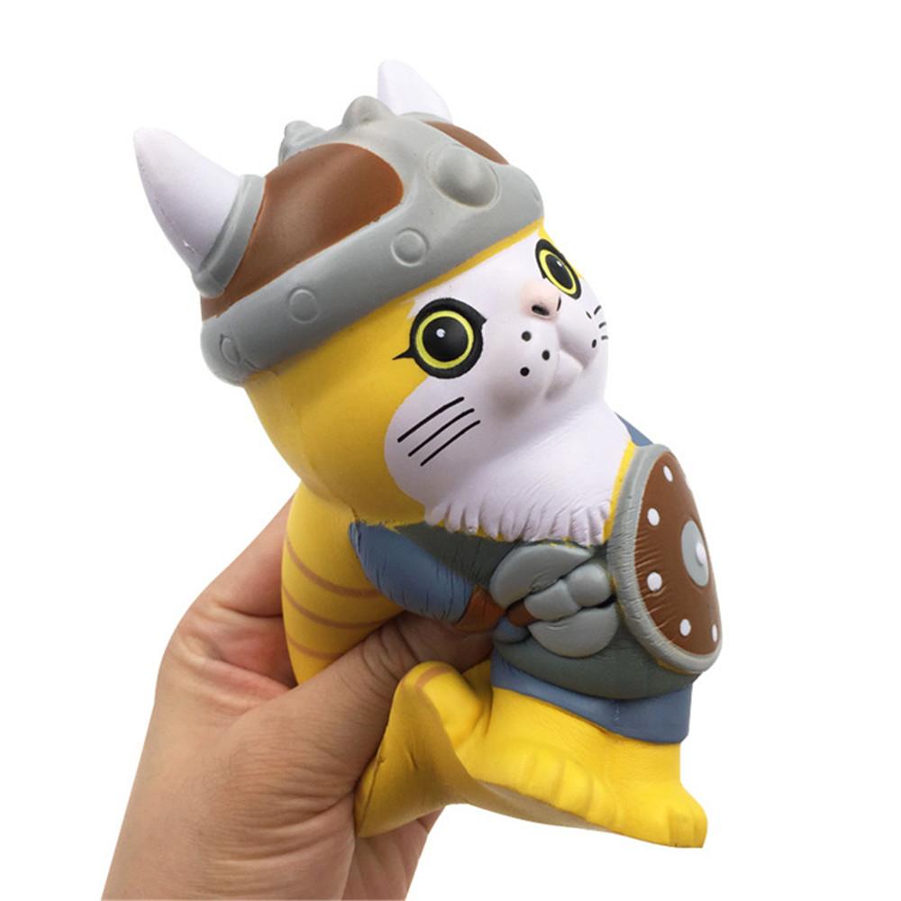 SquishyFun Squishy Viking Pirate Cat Kitten Cosplay 13.5*9*7CM Licensed Slow Rising With Packaging