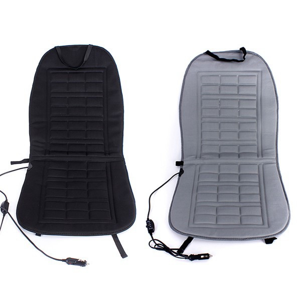 12V Car Front Seat Heated Cushion Winter Warmer Cover Protector Electric Heating Pad