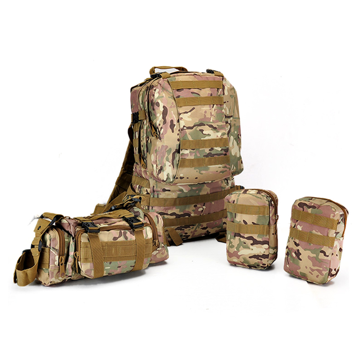 60L Molle Riding Tactical Bag Pouch Camping Racing Trek