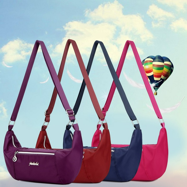 Women Nylon Light Weight Waterproof Casual Large Capacity Shoulder Bag Crossboby Bag