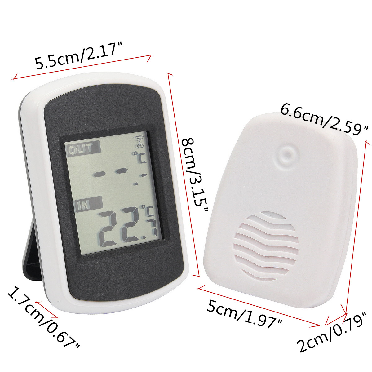 TS-FT004-B Digtal Ambient Weather Wireless Thermometer Indoor Outdoor Temperature Tester