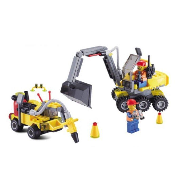 KAZI Building Blocks Excavator Educational Gift #6092 Fidget Toys 192Pcs