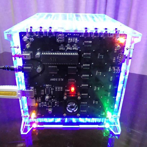 3D Light Cube Kit 8x8x8 Red Green Blue LED MP3 Music Spectrum DIY Electronic Kit