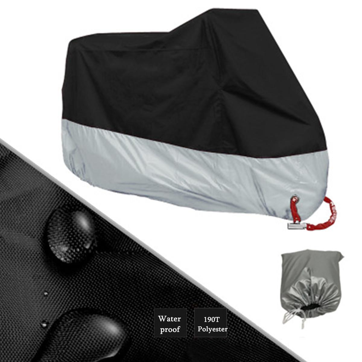 Waterproof Motorcycle Cover Case Outdoor Rain Dust Motorbike Lock Protector