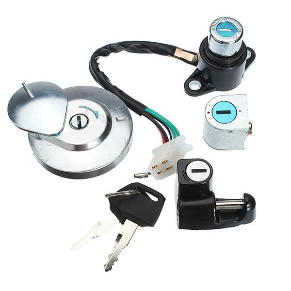 Ignition Switch Cap Lock Set With 2 Keys For 95-99 Honda CMX250 Rebel CA125