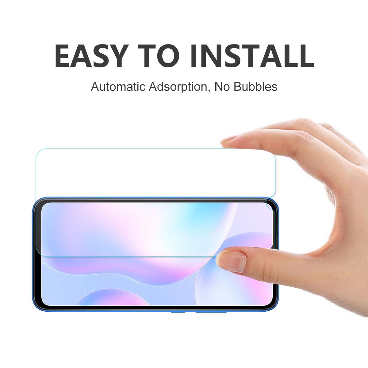 ENKAY 1/2/5/10 Pcs 9H Anti-Explosion Tempered Glass Screen Protector for Xiaomi Redmi 9 / Xiaomi Redmi 10X 5G / Xiaomi Mi 10 Lite