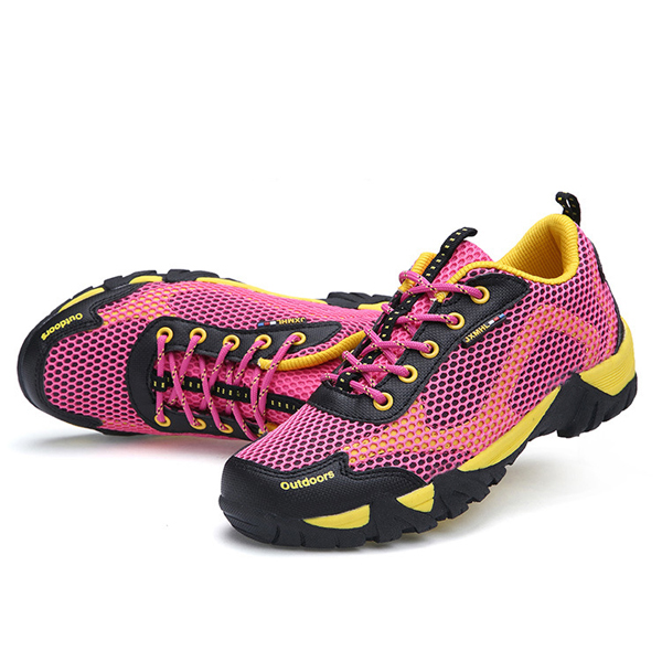 Size 36-44 Unisex Lace Up Breathable Mesh Sport Shoes Outdoor Walking Shoes