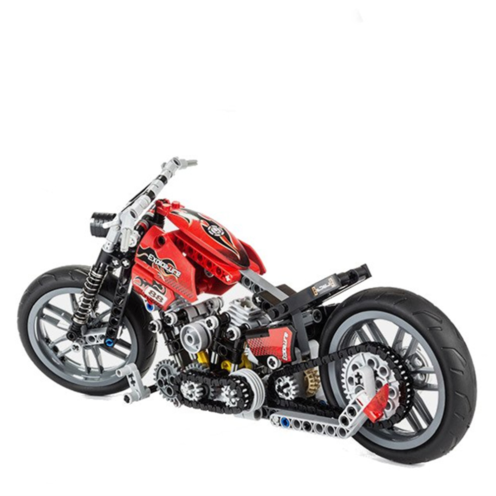 Decool 3354 Exploiture Speed Racing Motorcycle With Box Building Blocks Toys Model 374pcs Bricks