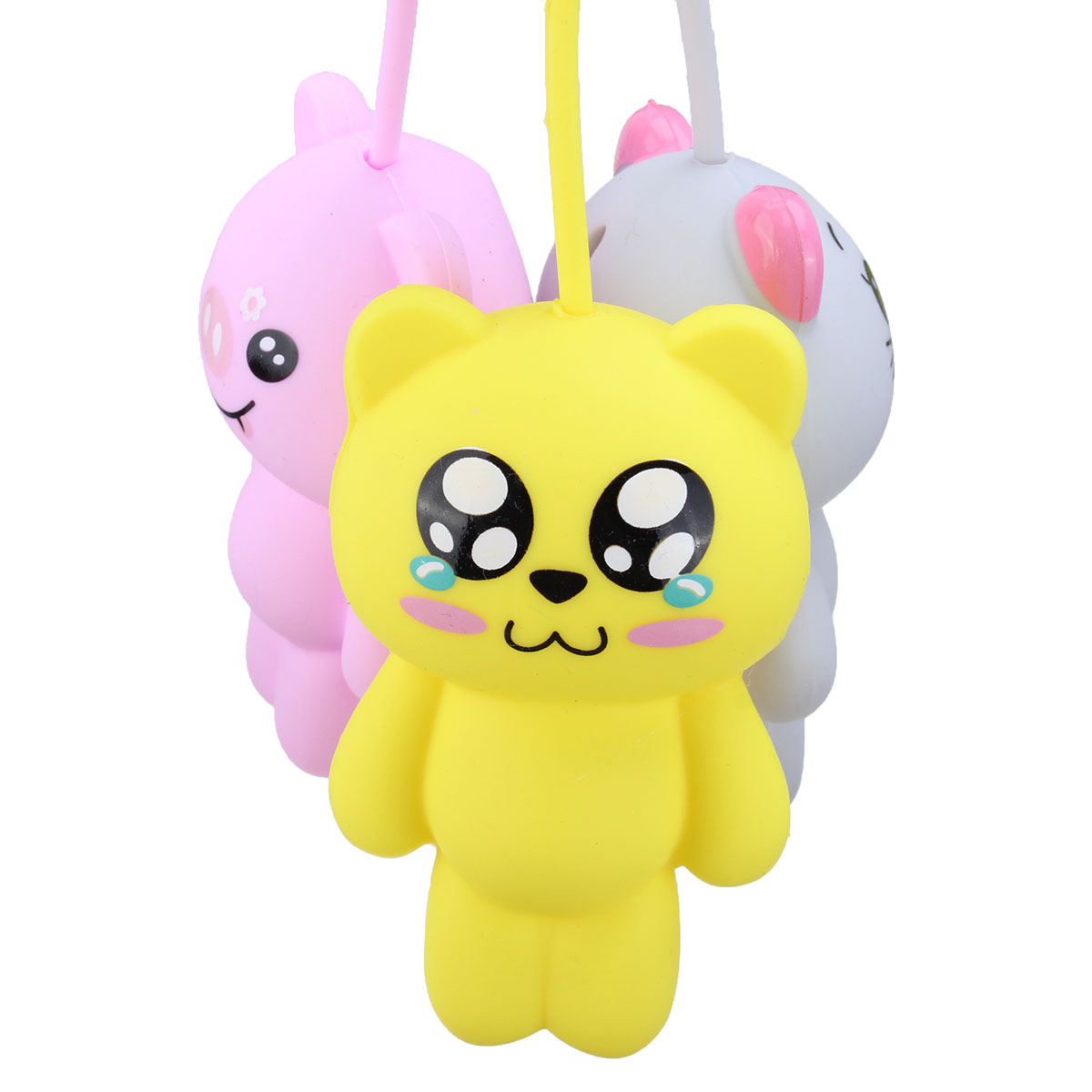 New Cute Cartoon Silicone Key Holder Coin Purse Case Bag Wallet Pendant