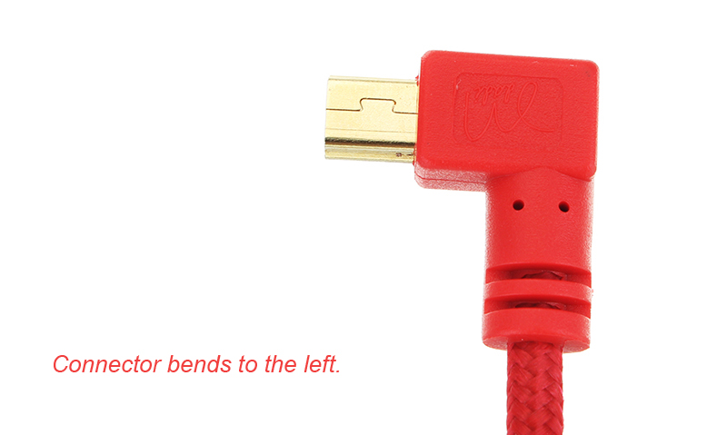 1m Red T-Shape Mini USB to USB Male to Male Data Cable for DIY Mechanical Keyboard