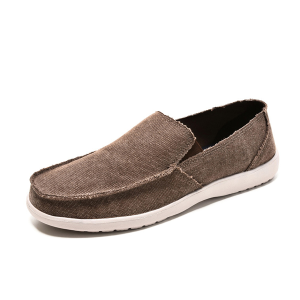 Mens Leisure Flat Shoes Slip On Casual Shoes Soft Sole Sneakers
