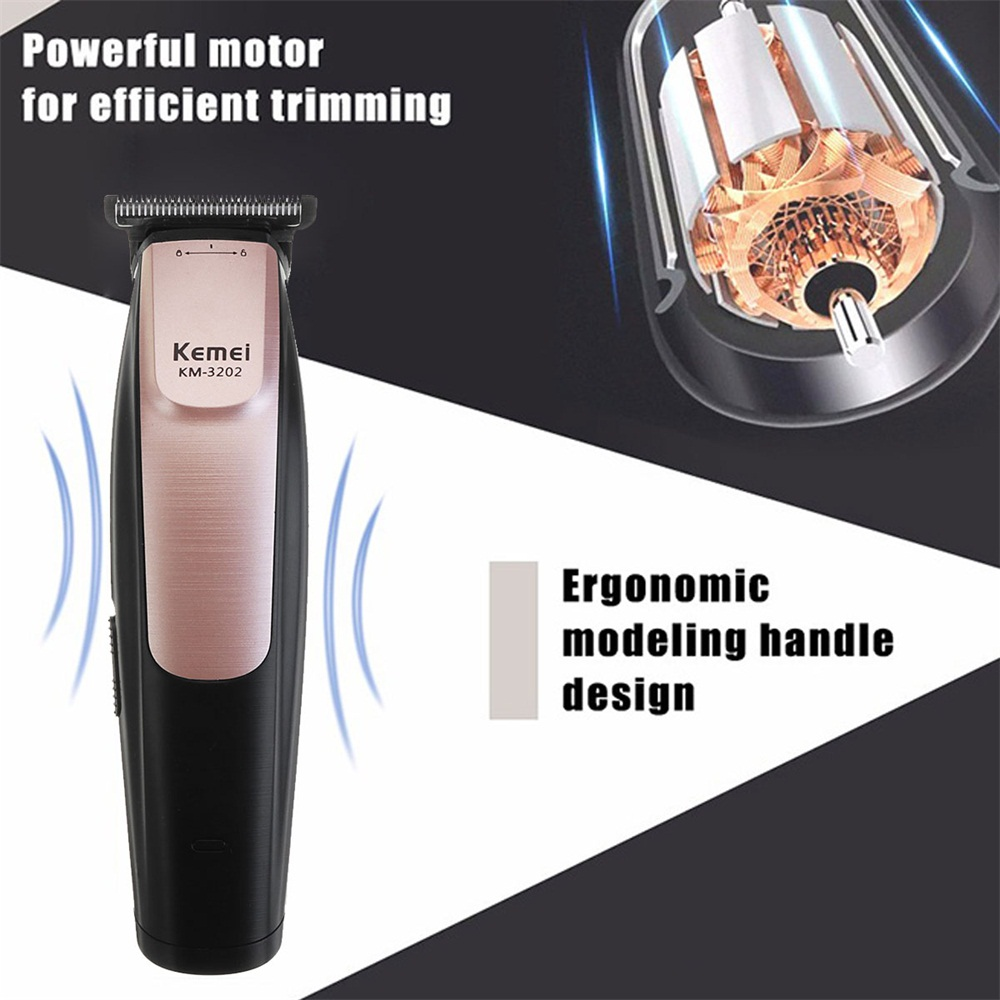 KEMEI KM-3202 Electric Hair Clipper Cordless Trimmer