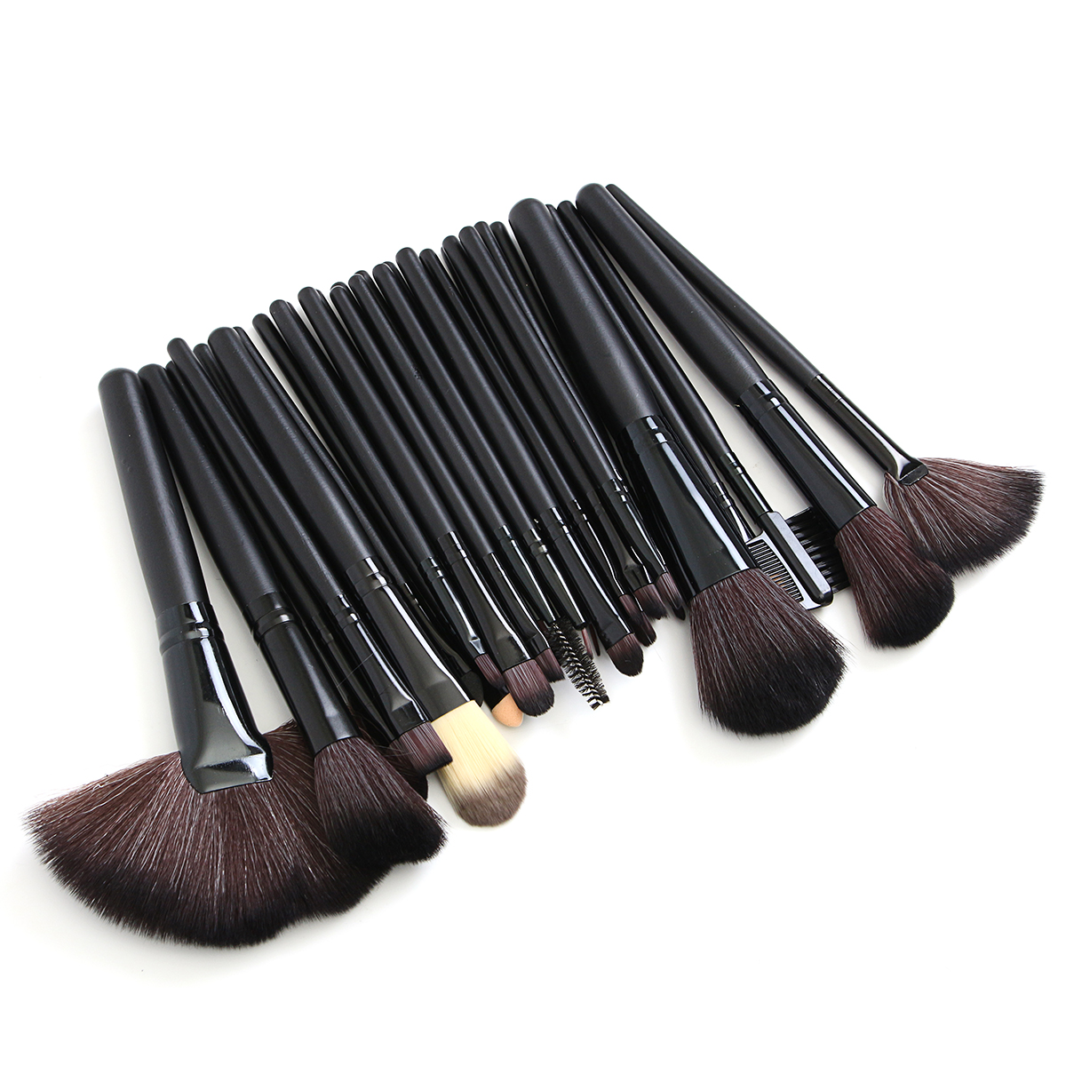 32pcs Pink Eyeshadow Eyebrow Blush Makeup Brushes Cosme