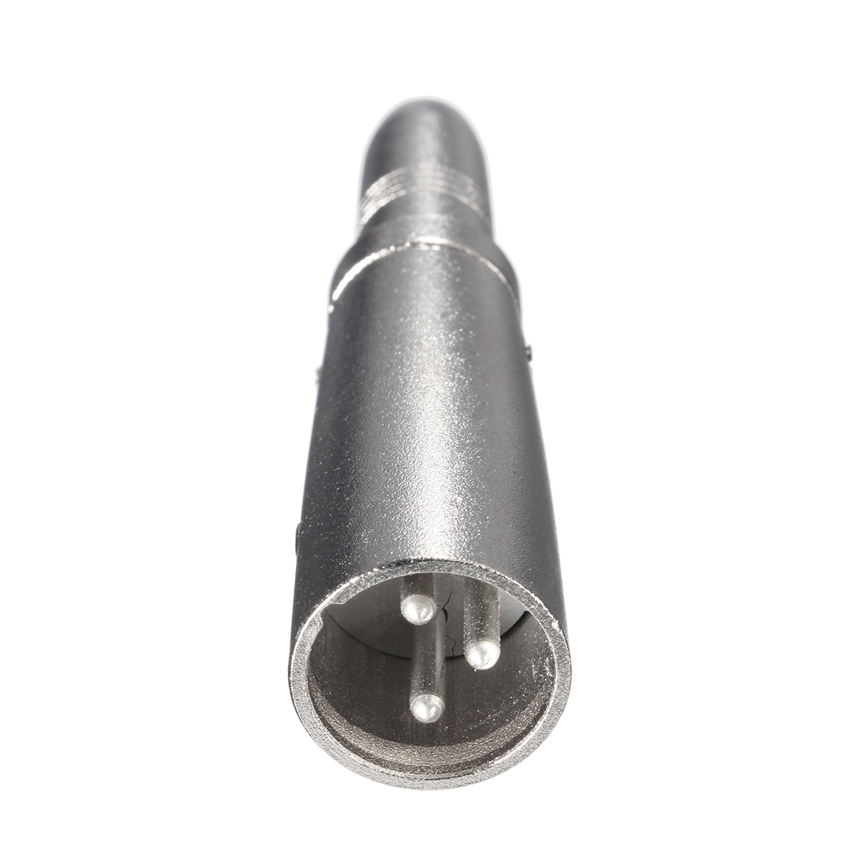 6.35mm 3 Core Pins Female To XLR Male Microphone Metal Adapter Connector Socket Plug