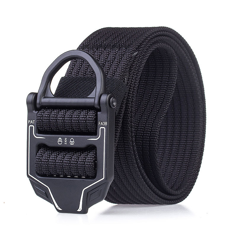125cm AWMN R001 3.8cm Nylon Adjustable Heavy Duty Waist Strap Quick Release Buckle Military Tactical Belt