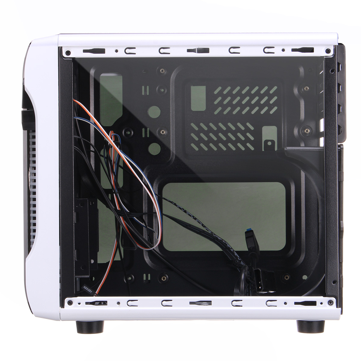 Coolmoon 285*285*225mm Transparent Side Panel Micro-ATX Mini-ITX PC Computer Case with 14mm Fan