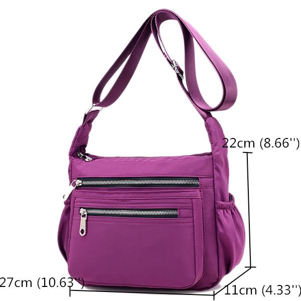 Women Nylon Multi- Pockets Waterproof Crossbody Bags