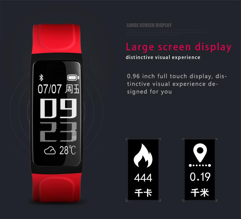 KALOAD C7S Smart Bracelet Heart Rate Monitor Blood Pressure IP 67 Waterproof Watch for Android IOS