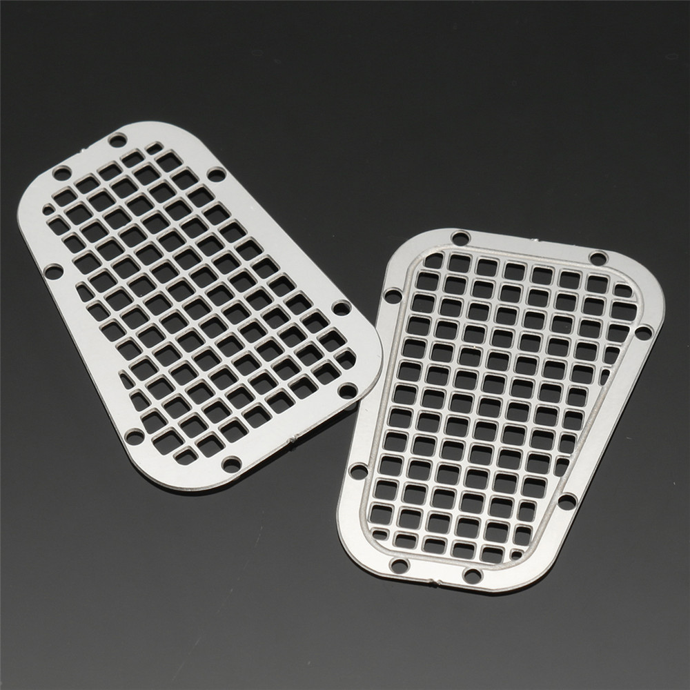 Metal Grill Mesh + Hood Side Tread Plate + Skid Plate for Traxxas TRX4 Trx-4 1/10 Rc Car Parts