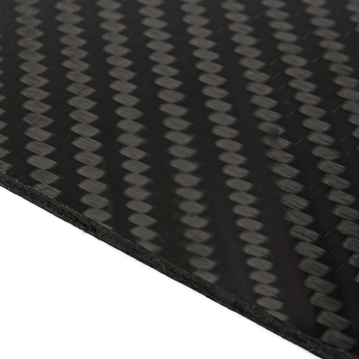 200x250x(0.5-2)mm Plain Weave 3K Carbon Fiber Plate Panel Sheet Twill Matt Surface Board