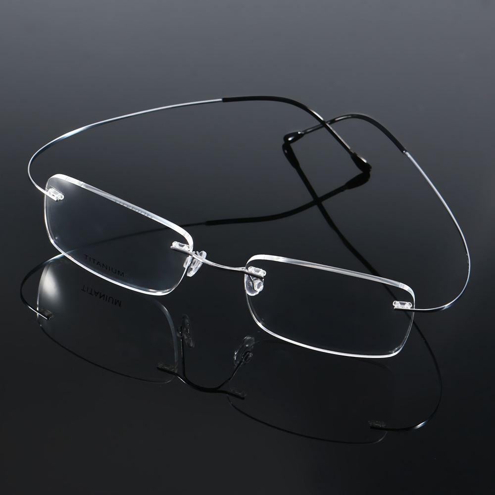 KCASA Custom Selectable Degree Lens Presbyopic Reading Glasses Flexible Titanium Frame HD Resin