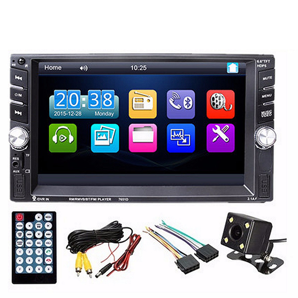 6.6 Inch TFT Touch Screen 2 DIN Car MP5 Player Stereo R