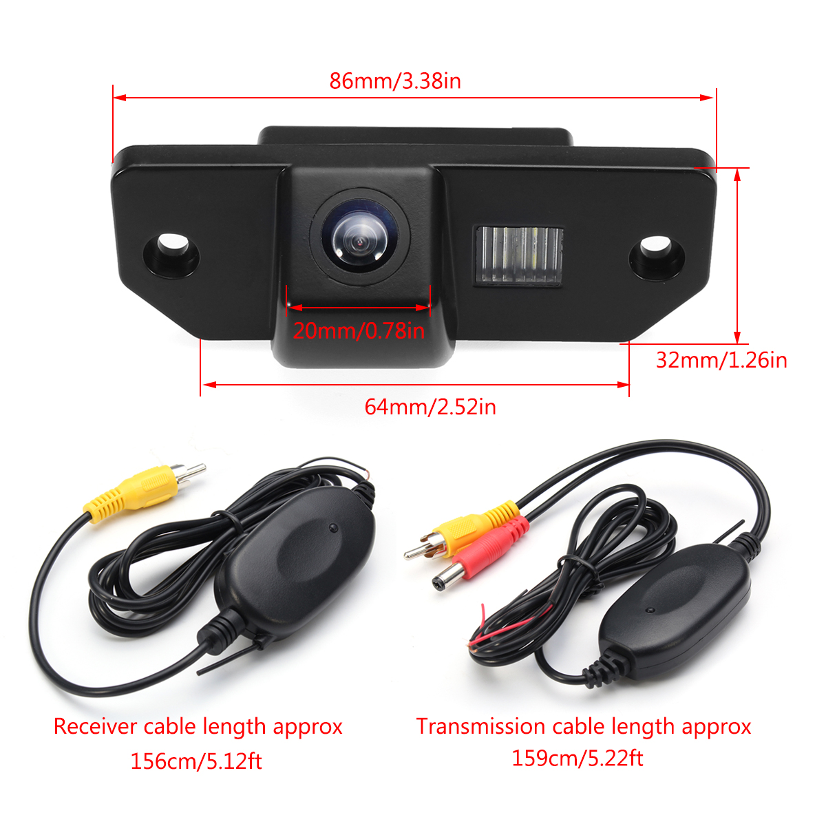Wireless Car CCD Reverse Rear View Backup Camera For Ford VW Focus Sedan C-Max