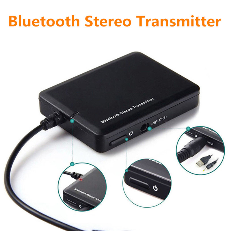 3.5mm Jack bluetooth Stereo Music Transmitter Portable Lightweight Audio Speaker Adapter