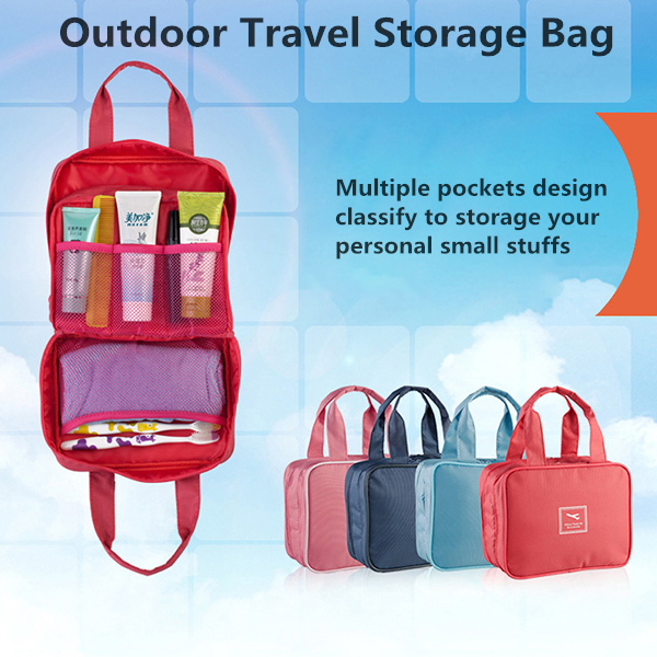 Outdoor Travel Storage Bag Waterproof Hanging Organizer Holder Cosmetics Wash Gargle Container