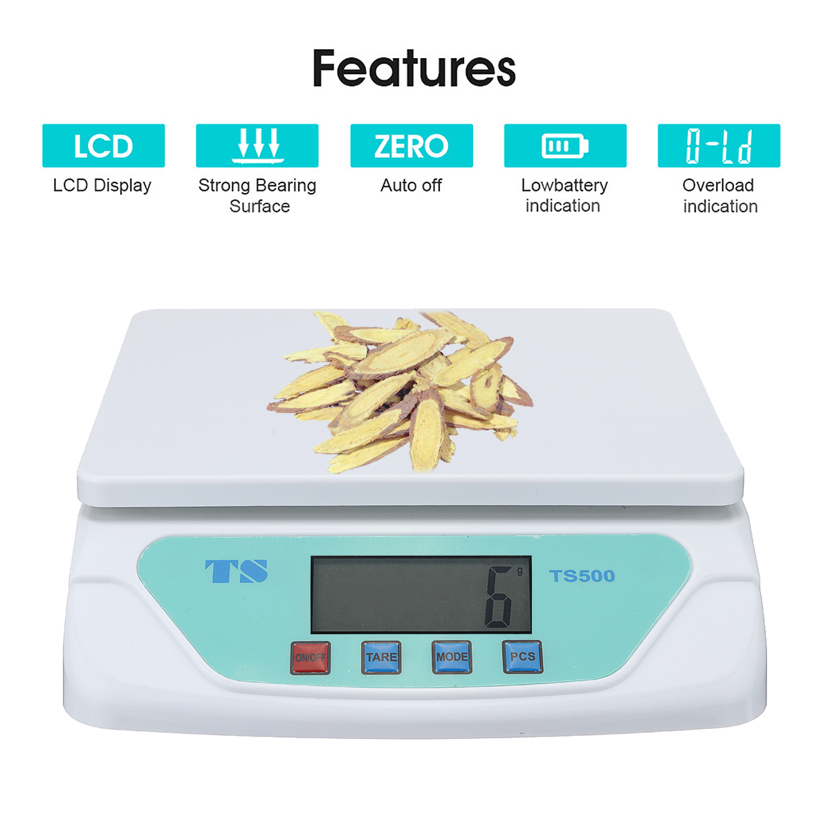 66lb x 0.1oz Digital Kitchen Packaging Shipping Postal Electronic Compact Scale
