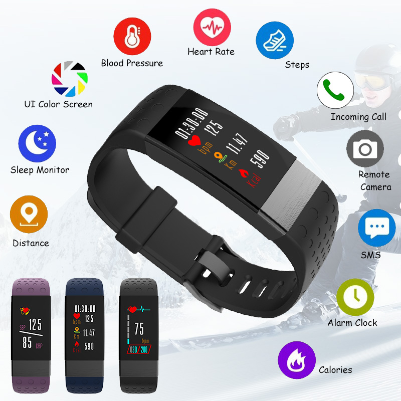 Bakeey i7 Blood Pressure Heart Rate Monitor Fitness Tracker Sport Smart Wristband For Android IOS