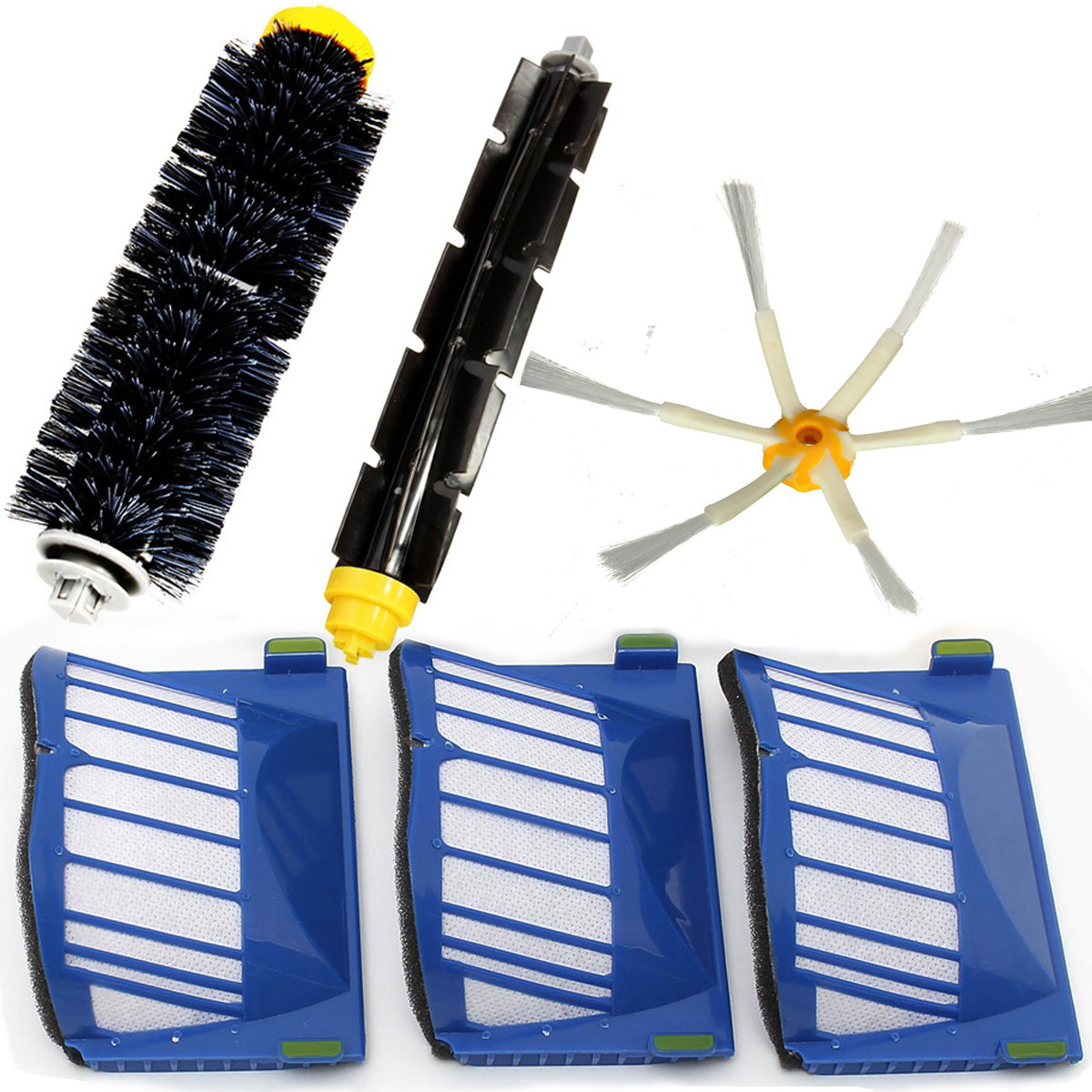 6Pcs Vacuum Cleaner Accessories Filters Brush Pack Kit For iRobot Roomba 600 Series 600 620 630 650