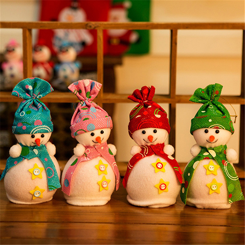 Christmas Party Home Decoration Cute Snowman Apple Box Toys Merry Christmas For Kids Children Gift