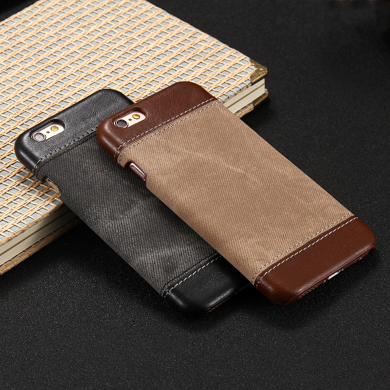Luxury Denim Veins Leather Case PU Leather Cowboy Veins Case Cover For iPhone 6 6s 4.7 Inch