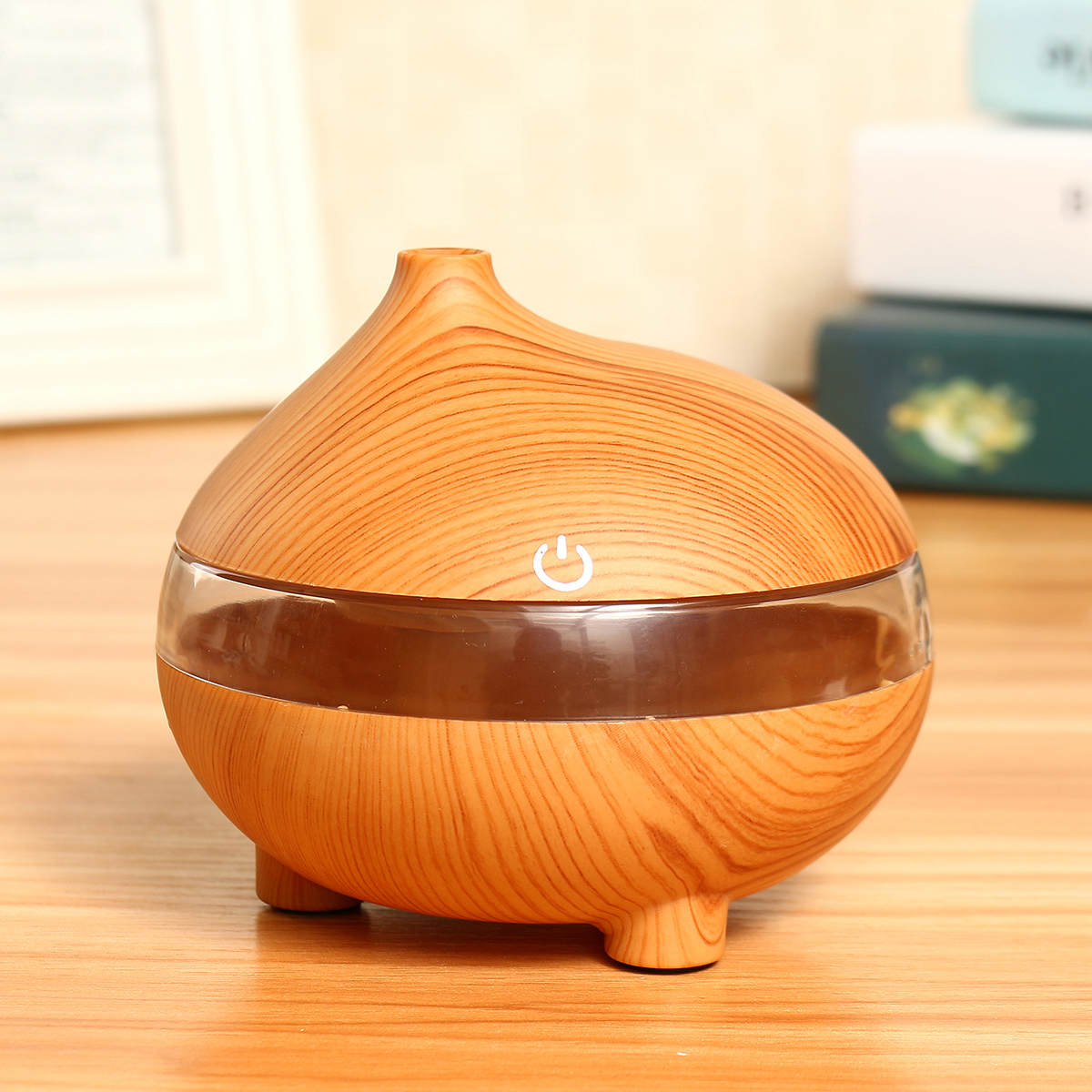 300ML Ultrasonic Air Humidifier LED Essential Aroma Diffuser Purifier Glow Home Air Purifiers