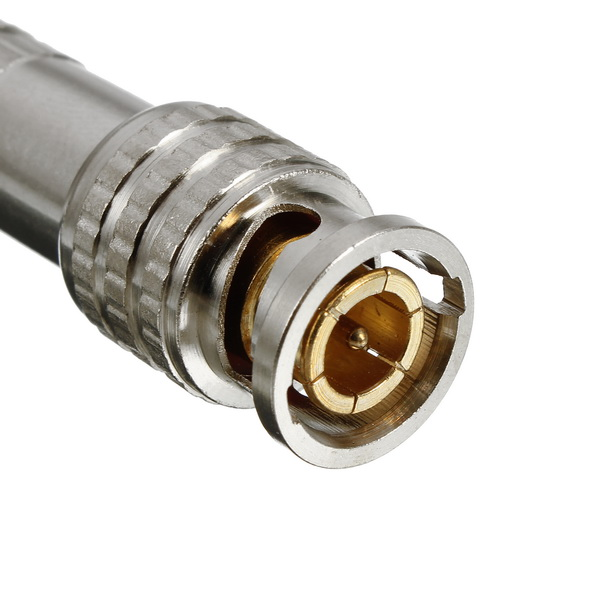 BNC Male Connector for RG-59 Coaxial Cable Brass End Crimp Cable Screwing Camera Free Welding