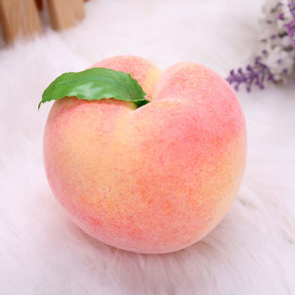 5pcs Artificial Fake Peach Mould Fruit Vegetables Teaching Mould Home Decoration props