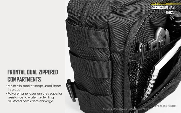 Nitecore NEB20 Cordura Nylon Multiple Carry Options Excursion Bag