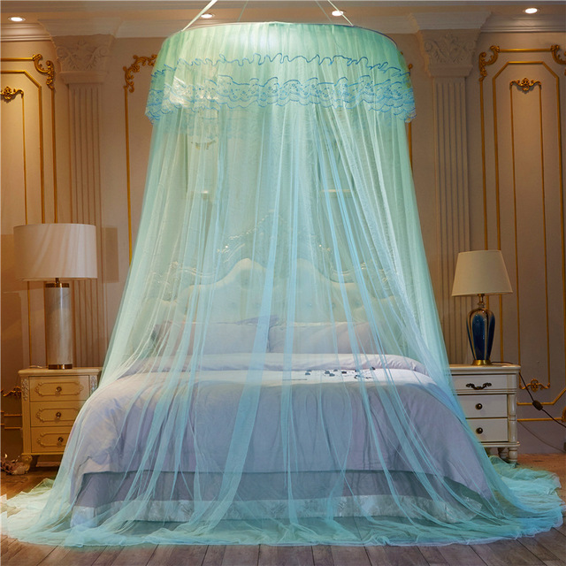 Special Offer Dome Ceiling Mosquito Net Single Princess Wind Round Court Floor Nets Free Installation