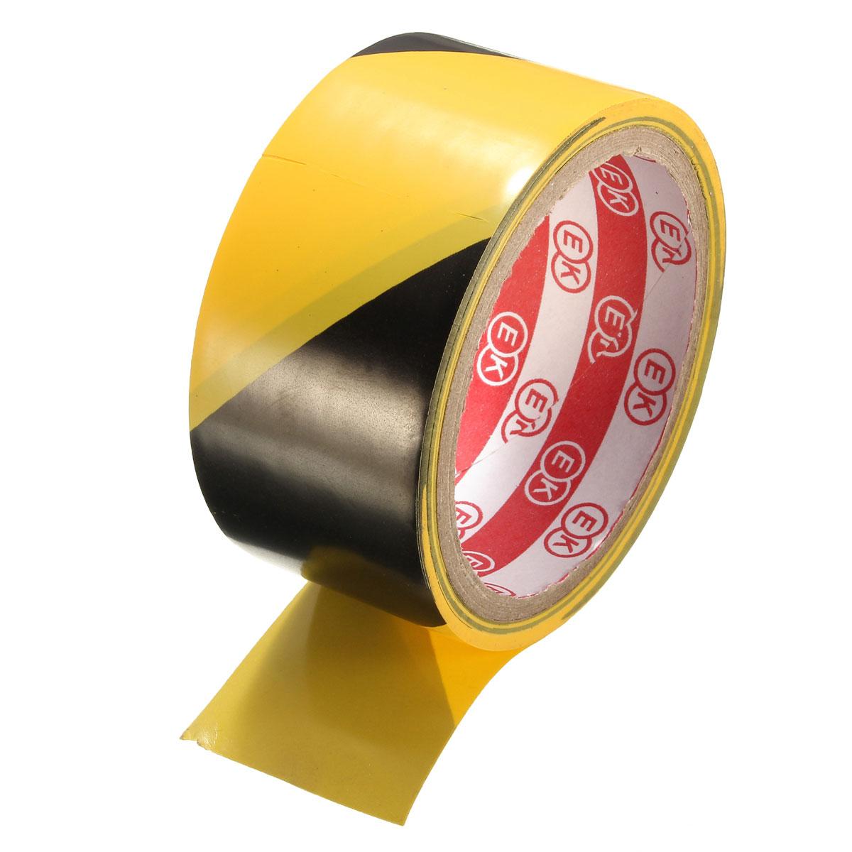 45mm Black and Yellow Self Adhesive Hazard Warning Safety Tape Marking Safety Car Warning Sticker