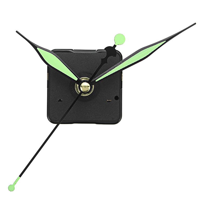 20mm Shaft Length Green and Black Luminous Hands DIY Quartz Clock Wall Movement