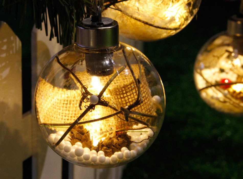 Christmas LED Lights Christmas Tree Bulb Ball Light Hang Ornament Home Festival Decor