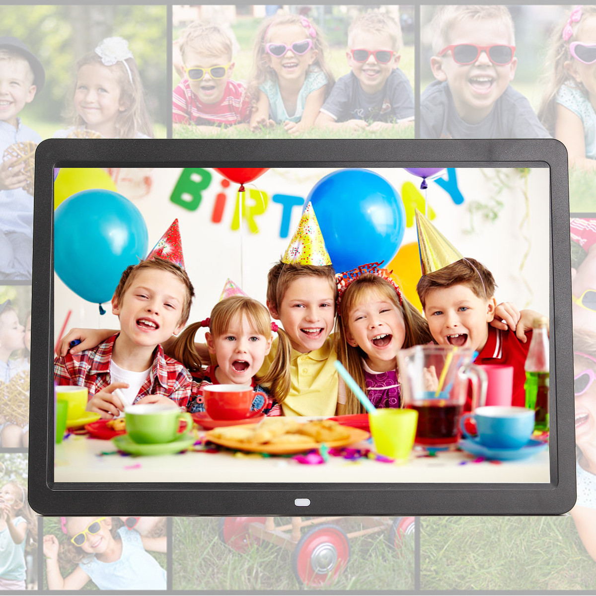 15.6 inch HD Digital Photo Frames Gallery Advertising Machine with Remote Control
