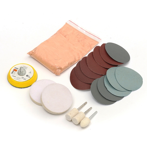Glass Polishing Kit Scratch Removal Cerium Oxide Polishing Powder Polishing Pad And Wheel